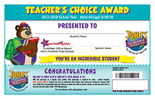 Teacher's Choice Awards