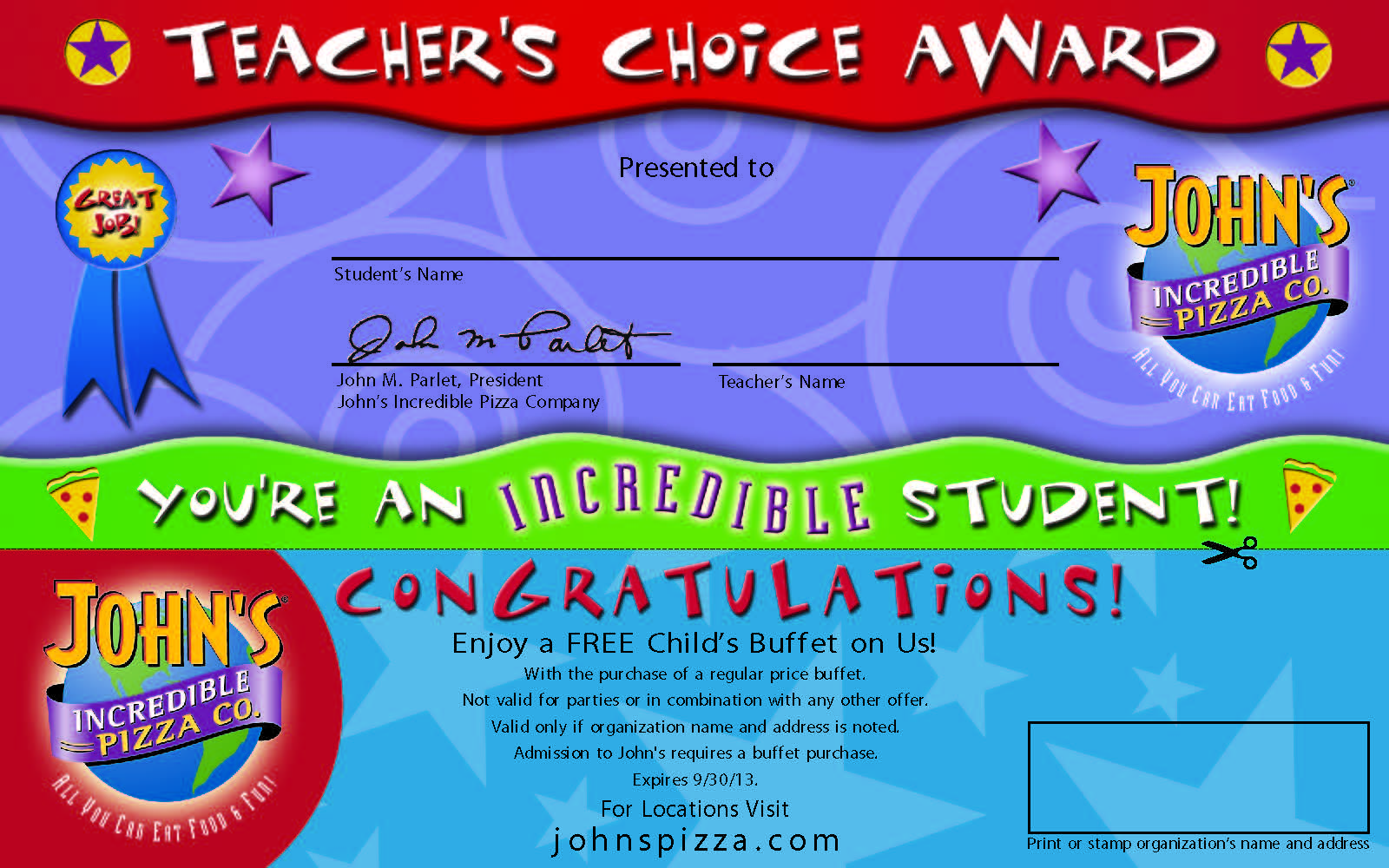 photo relating to John Incredible Pizza Coupons Printable named Johns outstanding pizza - Boundary toilets specials